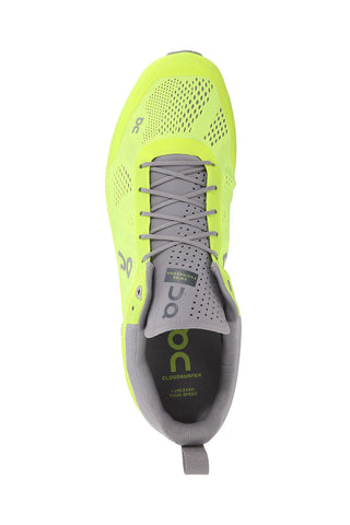 Support, fast, breathable, swiss engineering, running, ultra light, Men's ON Cloudsurfer - Neon Grey