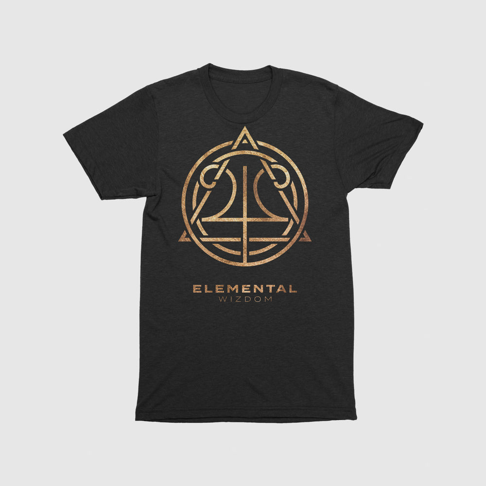 Load image into Gallery viewer, Elemental Wizdom Unisex Tri-Blend T-Shirt (Black)