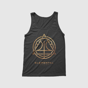 Load image into Gallery viewer, Elemental Wizdom Unisex Tanktop (Black)