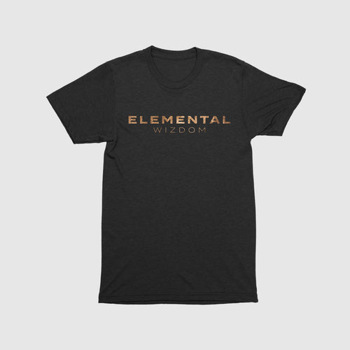 Elemental Wizdom Unisex Kids T-Shirt Front & Back Print (Black)