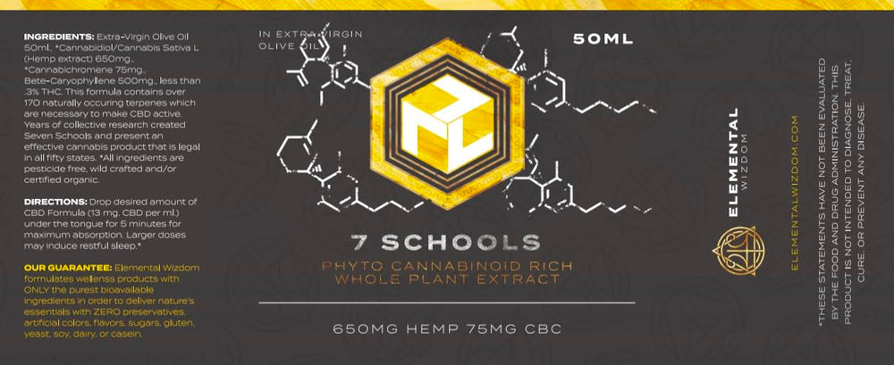 Load image into Gallery viewer, 7 SCHOOLS: PHYTO CANNABINOID RICH WHOLE PLANT HEMP EXTRACT