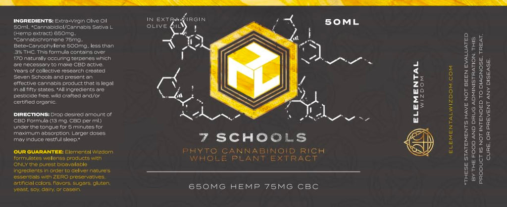 7 SCHOOLS  PHYTO CANNABINOID RICH WHOLE PLANT EXTRACT 50ML