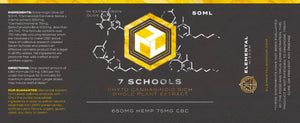 7 SCHOOLS: PHYTO CANNABINOID RICH WHOLE PLANT HEMP EXTRACT