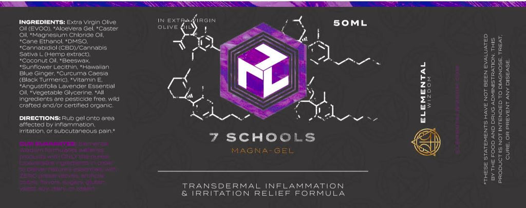 7 SCHOOLS MAGNA-GEL  INFLAMMATION AND IRRITATION RELIEF FORMULA 50ml