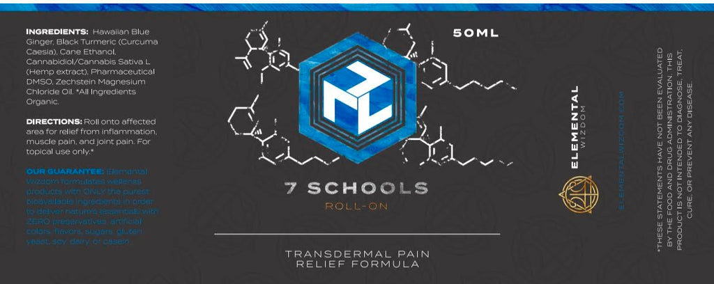 7 SCHOOLS TRANSDERMAL PAIN RELIEF FORMULA 50ml