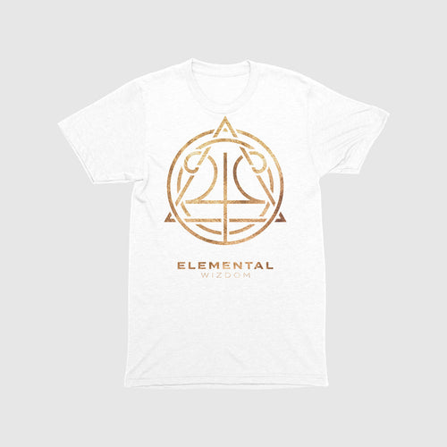 Elemental Wizdom Unisex Kids T-Shirt (White)