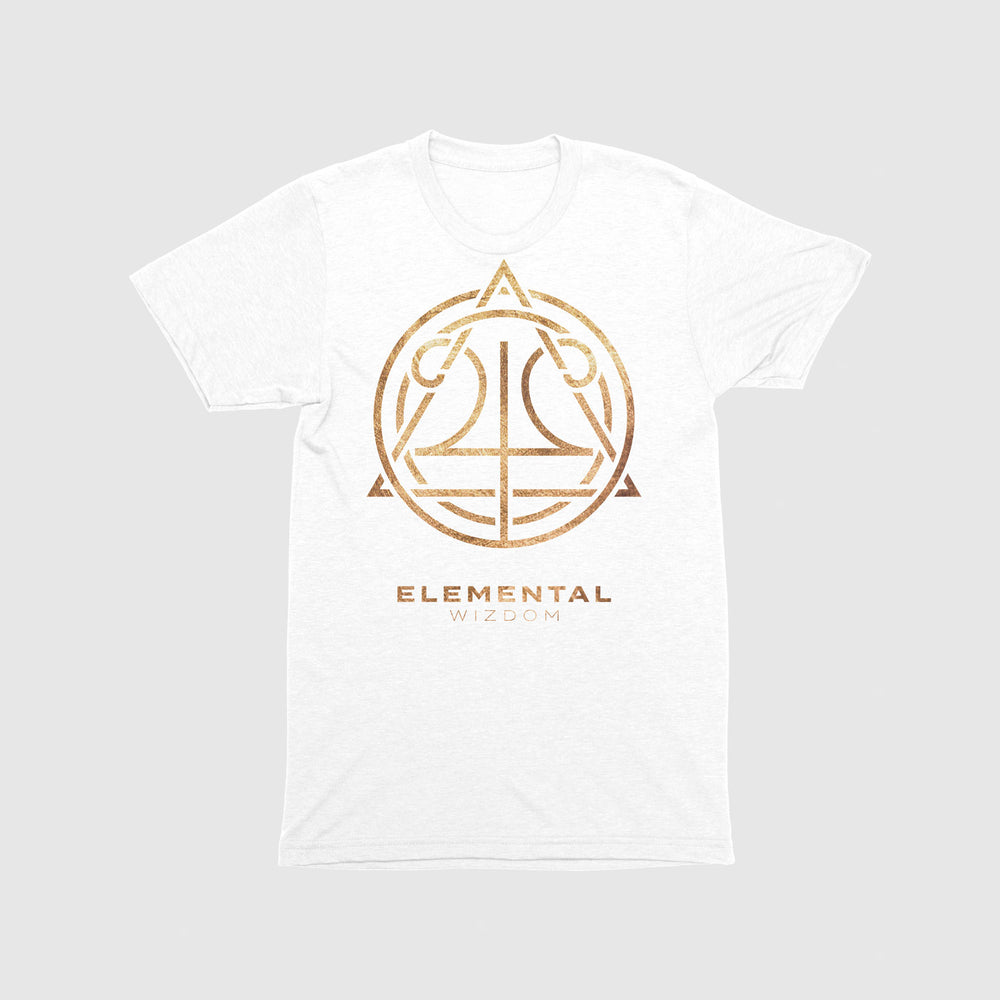Load image into Gallery viewer, Elemental Wizdom Unisex Tri-Blend T-Shirt (White)