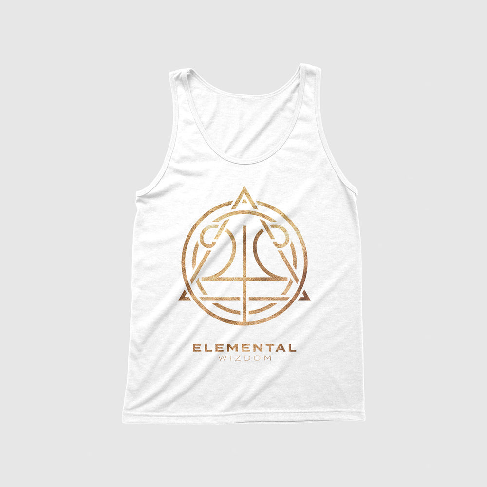 Load image into Gallery viewer, Elemental Wizdom Unisex Tanktop (White)