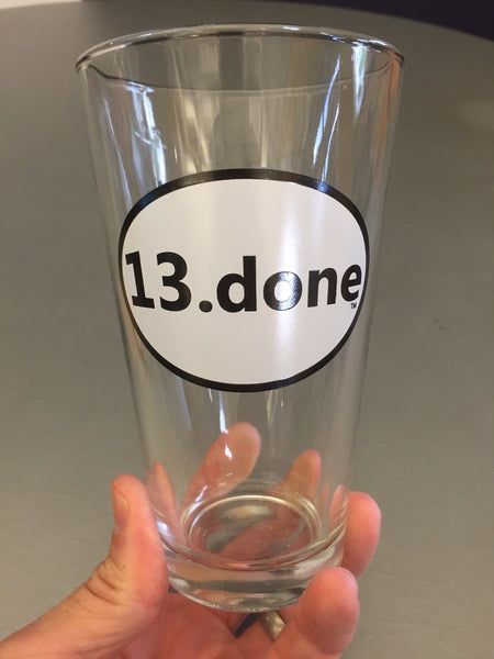 6.) 13.done pint glass - Plain