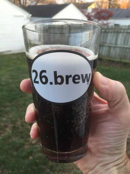 1.) 26.brew pint glass - Plain