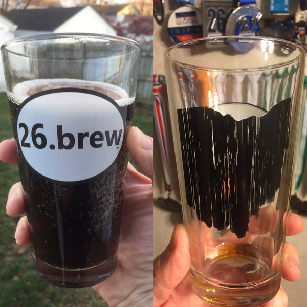 2.) 26.brew pint glass - with Ohio