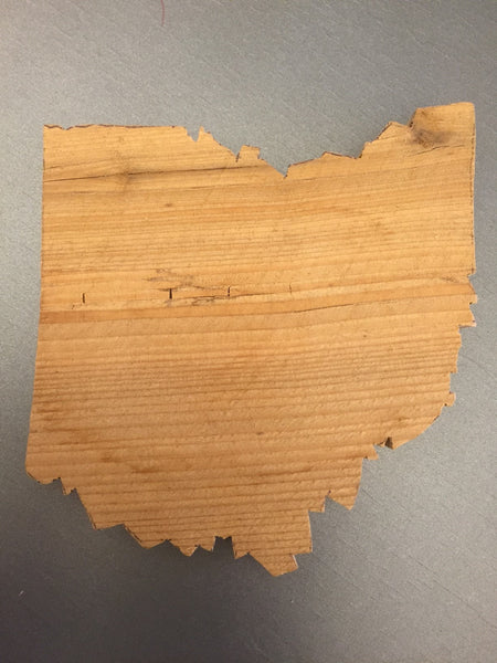 9.) State of Ohio Cedar coasters