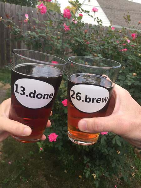 4.) 26.brew & 13.done pint glass Combo - with Ohio