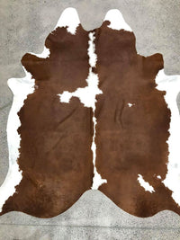 Exquisite Natural Cow Hide Brown and White