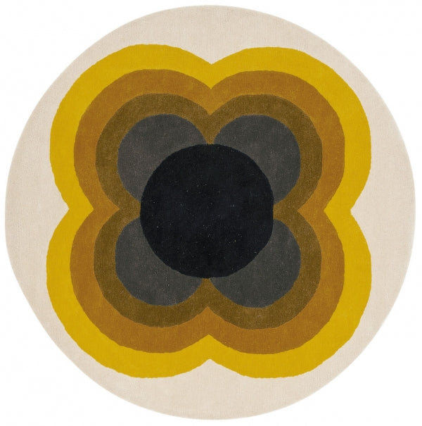 ORLA KIELY SUNFLOWER YELLOW 060006 ROUND