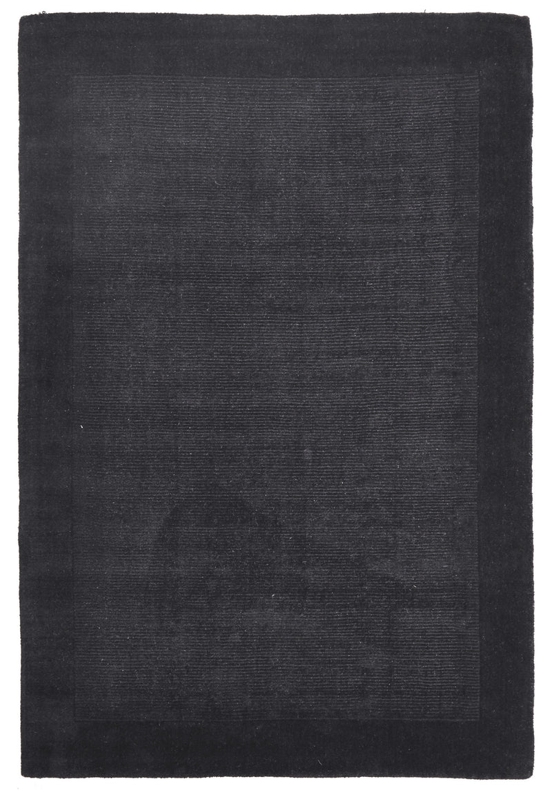 Timeless Loop Wool Pile Charcoal Coloured Rug - aladdinrugs - 1