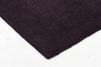 Timeless Loop Wool Pile Charcoal Coloured Rug - aladdinrugs - 2