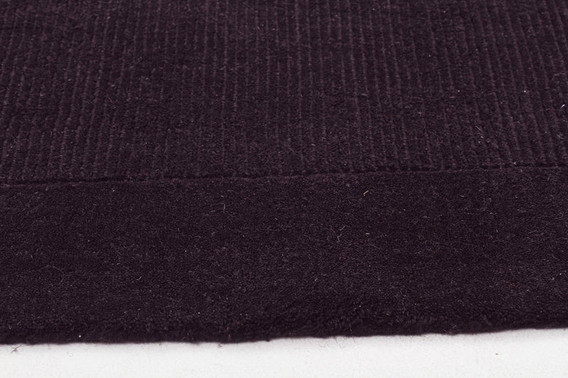 Timeless Loop Wool Pile Charcoal Coloured Rug - aladdinrugs - 3