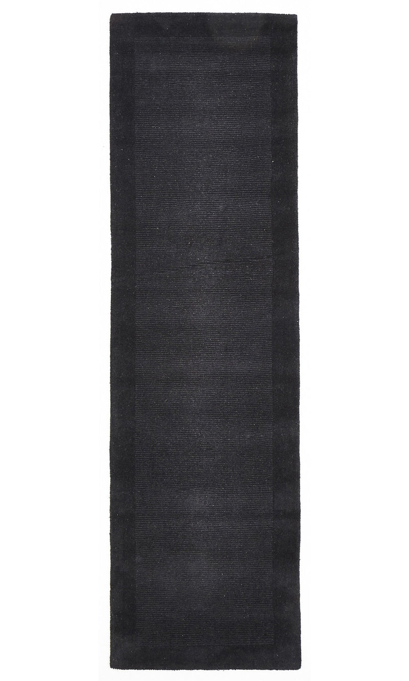 Timeless Loop Wool Pile Charcoal Coloured Rug - aladdinrugs - 5