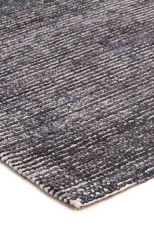 Black Cotton Rayon Rug