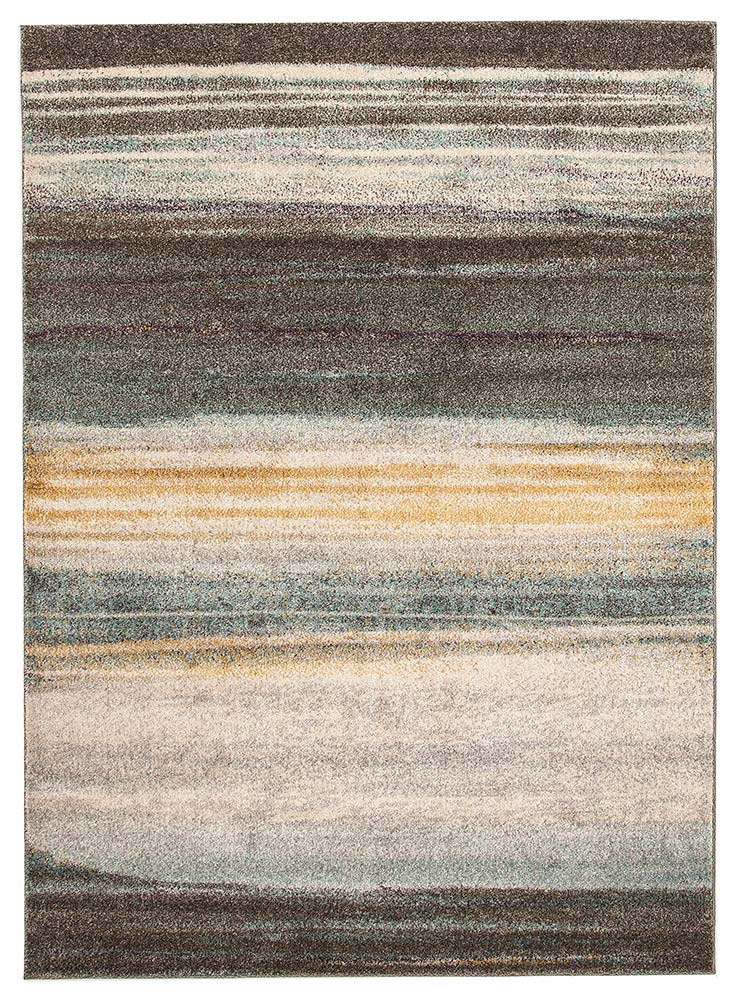 Cinthia Blue, Yellow & Grey Durable Modern Rug