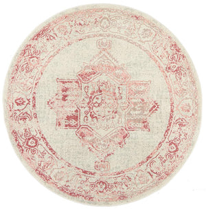 Arvin Power Loomed Rose Round Rug