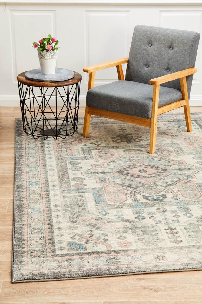 Arvin Power Loomed Silver Rug