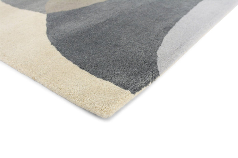 Elliptic Contemporary Wool Rugs 140304 Charcoal Grey by Harlequin