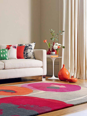 Sanderson Poppies Red/Orange 45700 - aladdinrugs - 1