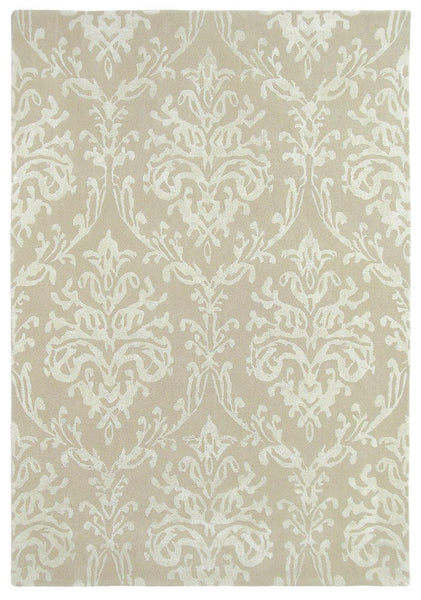 Riverside damask rugs 46709 in parchment by sanderson