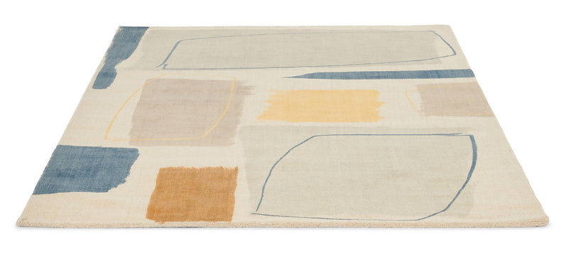 Composition Contemporary Wool Rugs by Scion in 023706 Papaya