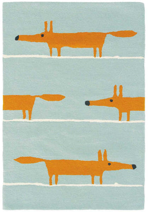 Scion Mr Fox Rug Aqua 25308 - aladdinrugs