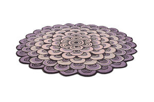 Masquerade Geometric Scale Wool Circle Round Rugs 16002 by Ted Baker in Pink