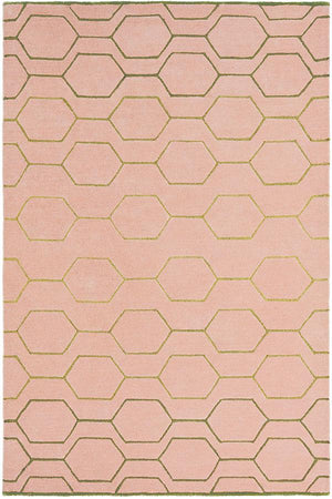 Arris rugs 37302 in pink and gold by wedgwood