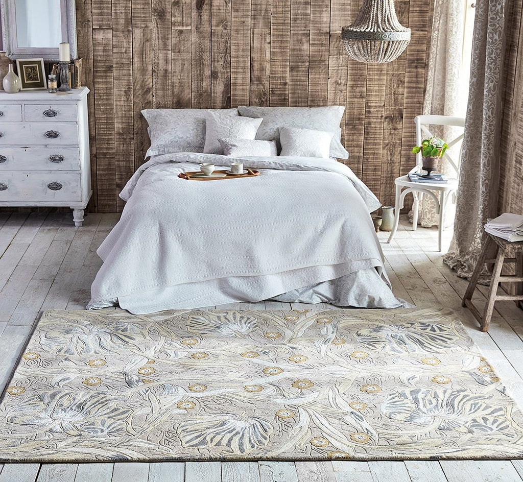 Pure Pimpernel Rugs 028701 Linen by Morris & Co