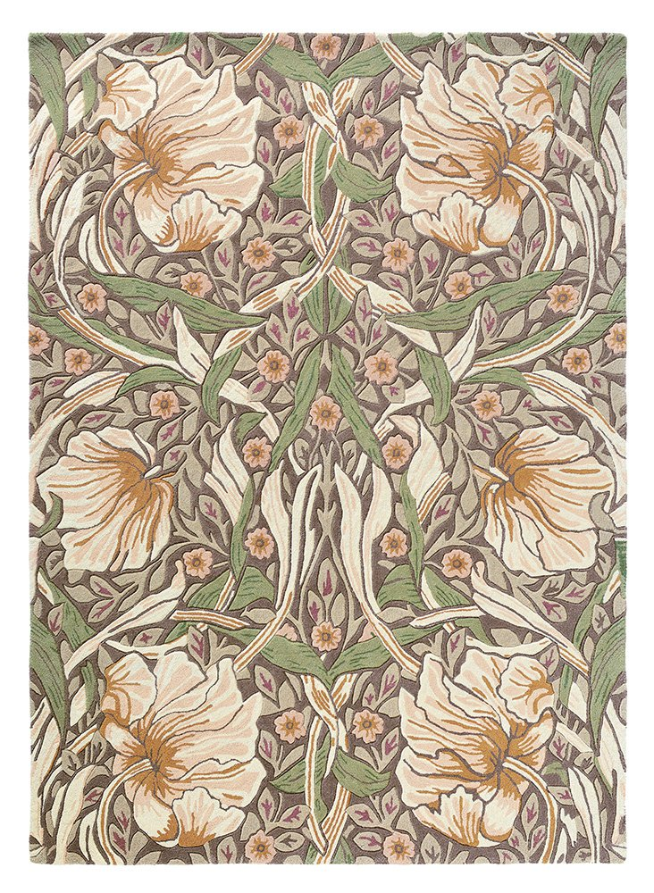 Pimpernel Rugs 028805 Aubergine by William Morris