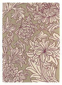 Morris & Co Chrysanthemum Wine Linen 27005