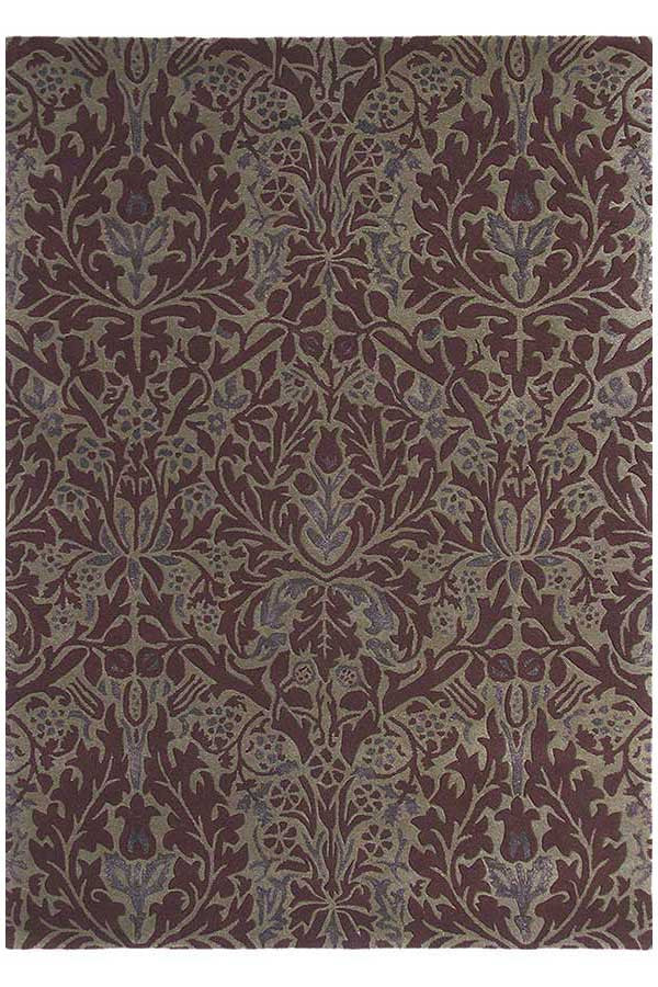 Morris & Co Autumn Flowers Plum 27500 - aladdinrugs - 2