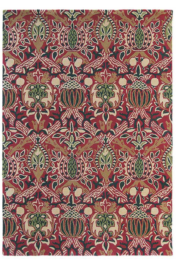 Morris & Co Granada Red/Black 27600 - aladdinrugs