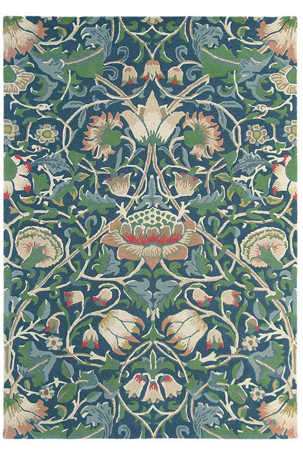 Morris & Co Lodden Indigo/Mineral 27808 - aladdinrugs