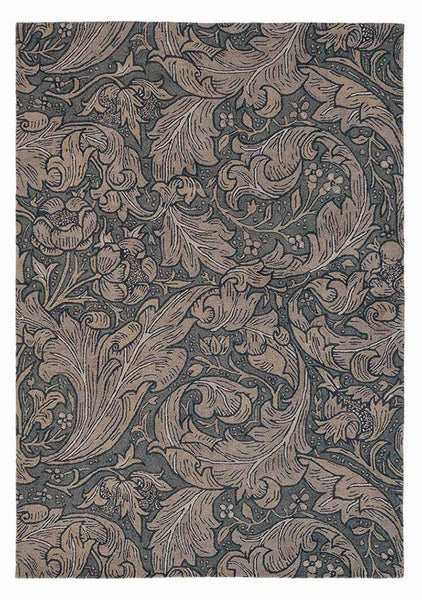Bachelors button rugs 28205 in charcoal by william morris