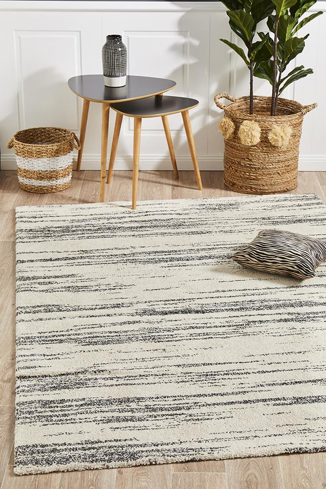 Adina Sally Contemporary Charcoal Rug