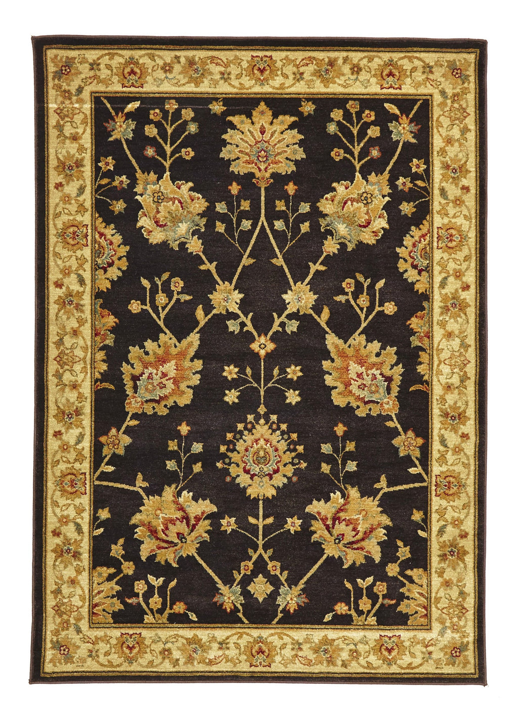 Byblos Classic Chobi Design Brown Rug - aladdinrugs - 1