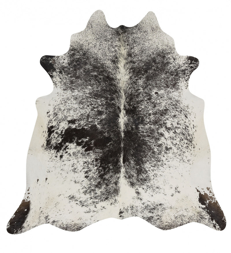 Exquisite Natural Cow Hide Salt & Pepper Black - aladdinrugs - 1