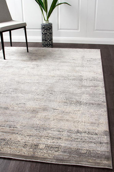Nisa Transitional Rug Grey Charcoal Ivory