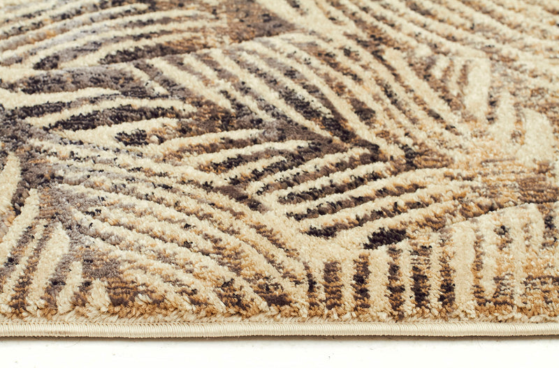 Heliya Nature Modern Charcoal Runner Rug