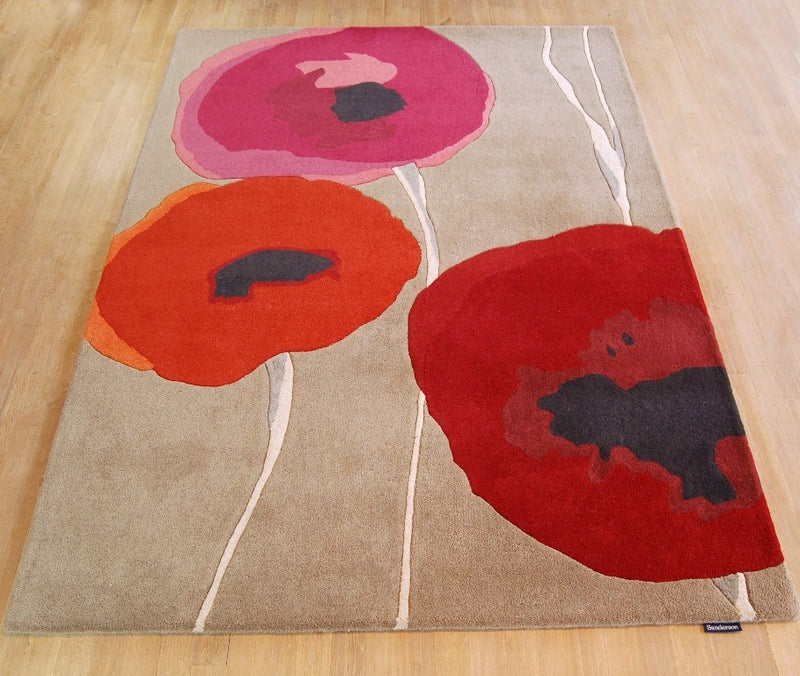 Sanderson Poppies Red/Orange 45700