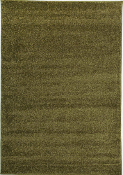 Elements Dense Plain Moss Coloured Rug - aladdinrugs - 1