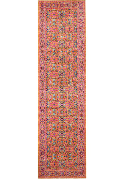 Whisper Sunset Rust Runner Rug