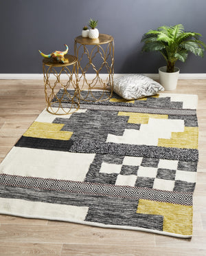 Hand Woven Wool Cotton Unite Multi Rug
